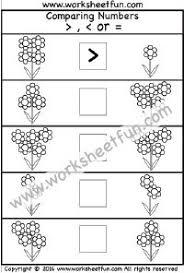 least to greatest u2013 4 worksheets kindergarten worksheets