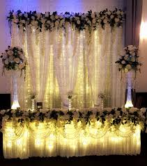 wedding backdrop fairy lights botanical collection glow event decor