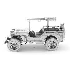 korean war jeep metal earth diy 3d metal model kits metal earth iconx willys