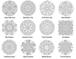 monthly mandalas candyhippie coloring pages