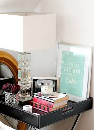 Pink Nightstand Side Table 30 Ways To Style Your Bedside Table Brit Co