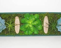 faux succulent vertical garden succulent planter shabby chic