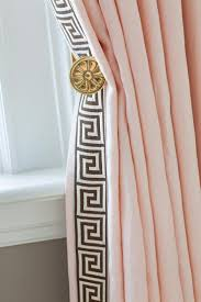 curtains greek key pattern curtains decor greek key trim on drapes