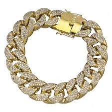 cuban chain bracelet images Premium hip hop jewelry iced out 18 mm hot miami cuban link jpg