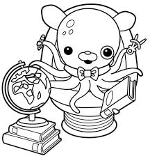 professor inkling octonauts coloring pages images free print