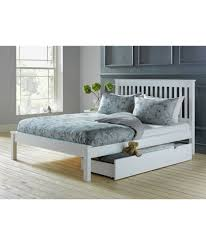 buy aspley double bed frame white at argos co uk your online