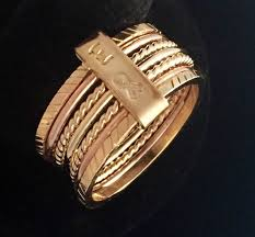 day rings gift for gold ring for 7 day ring seven day ring 7