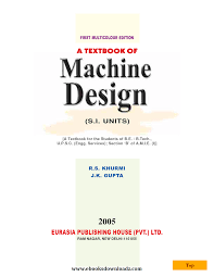 machine design 14 edition by r s kurmi free download ebooks free