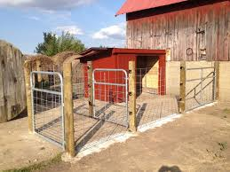 to build a pig enclosure