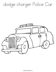 dodge charger police car coloring page twisty noodle