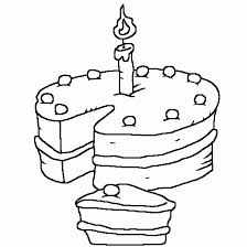 download candle and birthday cake coloring page or print candle