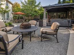 Outdoor Table With Firepit by Traditional Hot Tub With Fence U0026 Outdoor Kitchen In Sammamish Wa