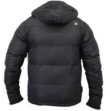 mens jacket kangol coat padded hooded fleece lined bubble puffer
