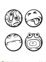 coloriage smiley ou émoticônes sur hugolescargot com