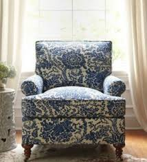 Blue Accent Chairs For Living Room Accent Chair Covers Dining Room Blue White Intended For And Plans