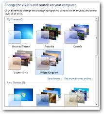 windows 7 desktop themes united kingdom access hidden regional themes in windows 7