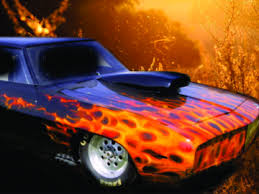 custom painted flames and fire on cars trucks and motorcycles