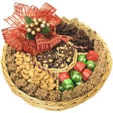large holiday nut wicker gift tray u2022 holiday nut gift baskets