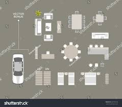 used car floor plan vector furniture icons top view bed stock vector 629756150