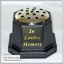 In Loving Memory Vase In Loving Memory Memorial Pot Grave Black Vase Amazon Co Uk