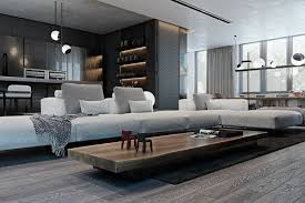 Interior Texture by A Modern Flat With Striking Texture And Dark Styling