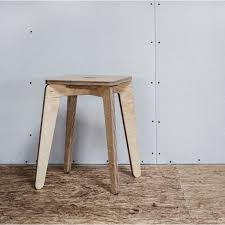 plywood stool compact and cute