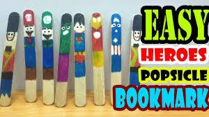 super heroes popsicle sticks bookmark 2 easy diy crafts for