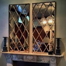 diamond design antique window panel mirror diamond window panel