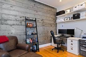 Pottery Barn Wall Shelves Rustic Home Office With Built In Bookshelf U0026 Hardwood Floors In
