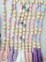 bead tassel garland by 3craftybears on etsy wooden bead inspo