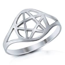 wiccan engagement rings mimi 925 sterling silver wicca pentacle ring bands