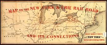 Map Buffalo Erie Railway Connecting Buffalo And New York City In The 1800 U0027s