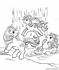 free printable pony generation 1 coloring sheets