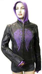 leather biker gear vance leather shop ladies leather jacket w purple embroidery