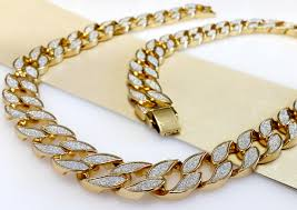 gold cuban necklace images Exojewel miami cuban link chain gold plated 30 quot necklace jpeg