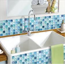 home decor 3d stickers amazon com beaustile mosaic 3d wall sticker home decor n blue fire