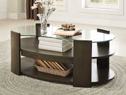 homelegance sicily cocktail table with hidden tray and glass top
