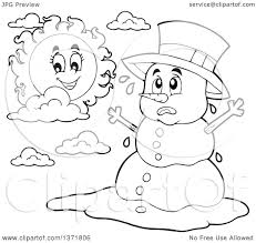image gallery melted snowman coloring