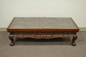 Carved Coffee Table Big Round Tufted Ottoman Tags Soft Coffee Table Hand Carved