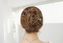 hair barrette heart hair barrette heart wire hair pin heart shape