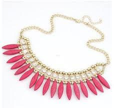 chunky crystal bib necklace images Chunky crystal boho pendant chain statement bib necklace jewelry jpg