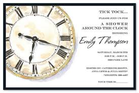 around the clock bridal shower around the clock bridal shower invitations clock shower invitations