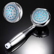 silver bathroom wall mounted dual head 2 in 1 bath shower spray