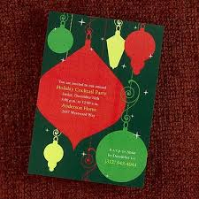 Christmas Ornament Party Invitations - holiday ornaments party invitation shimmer holiday ornaments