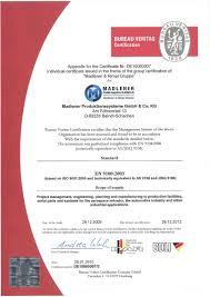 am agement d un bureau certificate madlener produktionssysteme gmbh co kg in baindt