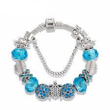 design charm bracelet images New design blue glass sea turtles charm bracelet free shipping jpg