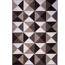 Rugs In Home Depot Home Dynamix Bazaar Modern Lines Ivory 5 Ft 2 In X 7 Ft 2 In