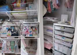 organizing a tiny odd shaped closet for a baby nursery or room