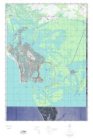 Topographical Map Of Florida by Mytopo Marco Island Florida Usgs Quad Topo Map