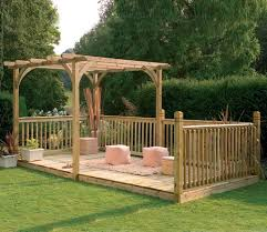 patio deck kit 16ft x 8ft including pergola gardensite co uk